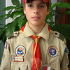 While many boys had other activities to keep them busy, Troop 370 Boy Scout Timmy Moore spent many of his evenings with fellow Jamboree reporters in the media tent. Timmy earned a number of merit badges and filed stories while participating in the 2010 BSA Jam-boree.  (Hicks photo)
