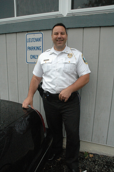 Christopher Vanghele, 40, who has worked as a town police officer since June 1993, has been promoted to the rank of lieutenant by the Police Commission. Lt Vanghele most recently served as the police department's administrative sergeant.  (Gorosko photo)