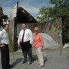 US Representative Christopher Murphy, left, toured the abandoned, contaminated Batchelder industrial site on Swamp Road in Botsford with forper US Rep James Maloney, center, and First Selectman Pat Llodra on July 12. The congressman is seeking $1 million in federal funds toward a cleanup of the property, which is hoped to spur its industrial redevelopment.  (Gorosko photo)