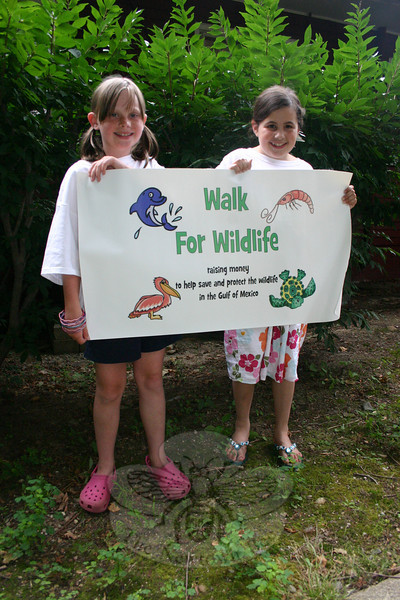 Liza Tananbaum and Julia Shuman are coordinating a two-mile walk to take place on July 17 that will double as a fundraiser for National Wildlife Federation and its efforts to protect and restore the wildlife and habitats in the areas affected by the BP oil spill.  (Hicks photo)