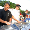 Archia Paloian, Stephen Clark and Liam Ferguson handled dishwashing duties for much of Lobsterfest.  (Bobowick photo)