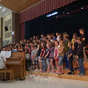 On Tuesday, June 1, the Reed Intermediate School cafetorium was full of music when the sixth grade band, orchestra, and chorus (seen here in part) performed pieces in a round-robin fashion during first period at the school. Fifth grade students performed during second period at the school.  (Hallabeck photo)