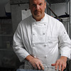 A dull knife is a dangerous knife, says Chef Patrick Wilson, shown here with a professional model multi-oil sharpening stone. The home cook can purchase a smaller sharpening stone at a hardware or home goods store, and when used in conjunction with a sharpening steel, a dull knife should become a thing of the past.  (Crevier photo)