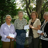 Thanks to donations from Newtown Congregational, Newtown United Methodist, Trinity Episcopal, St John's Episcopal, and St Rose of Lima churches, Church Women United-Newtown has been able recently to make donations to a few local groups. On Friday, June 11, CWU-Newtown member Peg Forbell, second from left, presented checks to Barbara Gates, left, from FAITH Food Pantry in Sandy Hook; Ann Puccini, from Newtown Social Services and Salvation Army Food Pantry, second from right; and Sharon Maynard, right, representing The Newtown Fund. Church Women United is an ecumenical movement representing women of churches in Newtown. It is affiliated with the national and state Church Women United. Annual events include contributions to local projects as well as to international missions for women's and children's health, and participation in World Day of Prayer in March, May Friendship Day, World Community Day in November, and accompanying bible studies. For additional information about the group contact its current president, Darlene Jackson, at 203-426-5192.  (Hicks photo)