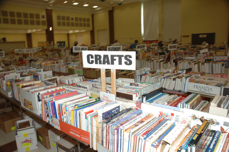 Thousands of books await shoppers at Reed Intermediate School as the 35th annual Friends of the C.H. Booth Library Book Sale kicks off Saturday morning, July 10, at 9 am. Five-dollar admission tickets for the first day only go on sale beginning at 7 am. The sale runs through Wednesday, July 14.  (Bobowick photo)