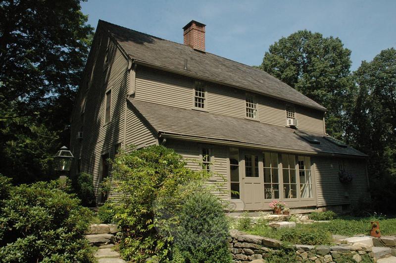Jean and Lincoln Sander's elegant 18th Century house stands adjacent to Mrs Sander's garden.  (Gorosko photo)