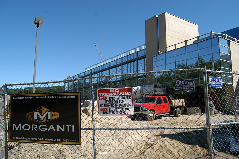 A view of the Newtown High School expansion project site on Friday, July 2.  (Hallabeck photo)
