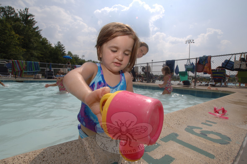 Residents of all ages flocked to Treadwell Park this week, seeking relief from the first heatwave of the summer.  (Bobowick photo)
