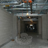 A hallway in the Newtown High School expansion project is coming together, and will be ready for students to walk through on September 1, according to NHS Principal Charles Dumais.  (Hallabeck photo)