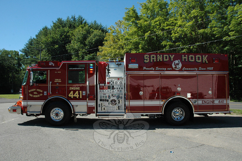 The Sandy Hook Volunteer Fire & Rescue Company has put into service Engine 441, a town-owned fire vehicle that will play a major role in the fire company's responses to emergen-cies.  (Gorosko photo)
