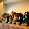 """Sean Hannon, Kathryn Marchand, Florence Phillips, Kate Katcher and Don Striano take a bow following their reading of """"A Chrismtas Memory"""" at Edmond Town Hall on December 17.  (Hicks photo)"""