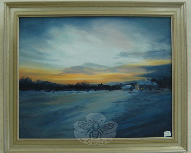 "More than 80 artists entered original works of art into The Society of Creative Arts of Newtown's annual winter show, ""Color in January,"" this month. Among those works is this oil by Vikki Bouffard, called ""Morning Light.""  (Hallabeck photo)"
