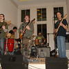 The Skanktones, a reggae band, provided music and entertainment during the Haiti Dinner & Reggae Night on January 23 at Newtown Congregational Church.  (Bobowick photo)