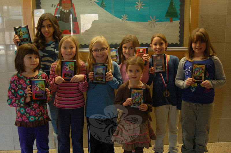 Middle Gate Reflections Program winners stand together.  (Hallabeck photo)