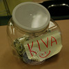 "Reed School students are leaving spare change from their lunch money in a collection bucket in fifth grade teacher Karen King's classroom. The money is then used to support microloans through a microlending website,  <a href=""http://www.kiva.org"">http://www.kiva.org</a>.  (Hallabeck photo)"