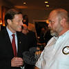 Focusing on the many accomplishments his office has achieved on behalf of state taxpayers during his tenure as state attorney general, versus spending a lot of time promoting his fledgling US Senate campaign, Richard Blumenthal visited with Rotary Club of Newtown on January 25. During his brief stop, Mr Blumenthal chatted with Rotarians, including Joe Hemingway, before addressing the full membership and fielding questions.  (Voket photo)