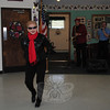 Aggie Jensen rock 'n' rolled her way to second place in the April 15 dance contest at the Newtown Senior Center. Dr J on saxophone and Bob Lupi, vocals, provided live accompa-niment.  (Crevier photo)