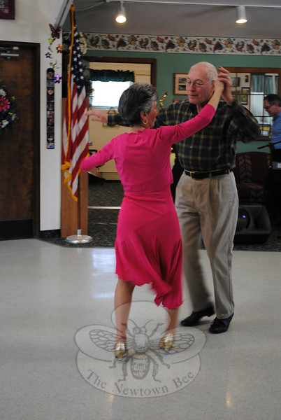 Tony and Rosemarie Rigoglioso performed the cha-cha at the HealthNet Senior Stars Showcase dance contest on Thursday, April 15.  (Crevier photo)