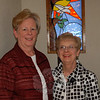 Chaplain Anne Baltzell, right, is the director of spiritual services for Masonicare at Newtown and Masonicare Health Center in Wallingford. She has been training geriatric lay ministers like Anne McWhirter, left, since 1993 to support the emotional and spiritual needs of residents at the facilities. A new training session at Masonicare at Newtown will begin this spring under the direction of Chaplain Baltzell.  (Crevier photo)