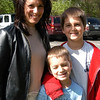 "In response to this week's Bee Lines question (What factors do you take into consideration when voting on the town budget?), Donna Hoffman, with sons Colin and Ethan, said ""I read the newspaper, and I try to keep on top of what is happening. And if it is not wasteful or excessive and whether it meets the community's needs.""  (Hallabeck photo)"