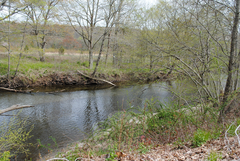 The Audubon Society owns the property on either side of the Pomperaug River for one mile, and has installed natural trails that take visitors along the winding river.  (Crevier photo)