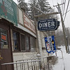The Sandy Hook Diner was closed for business Wednesday morning as the anticipated heavy snowfall began at roughly 6:45 am. As of Tuesday night, schools had been canceled, and town offices also were closed Wednesday, due to the weather.  (Bobowick photo)