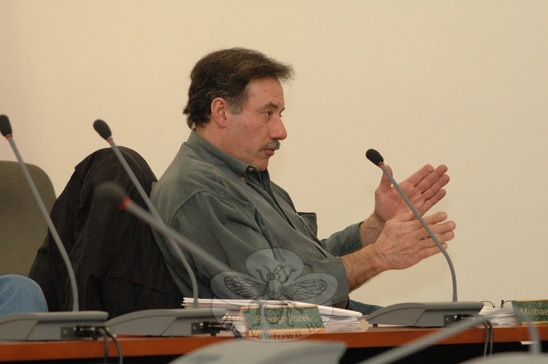 P&Z member Michael F. Porco, Sr, discusses the P&Z's work to revise and update the 2004 Town Plan of Conservation and Development. The P&Z uses the decennial advisory docu-ment in its decisionmaking on land use issues.  (Gorosko photo)