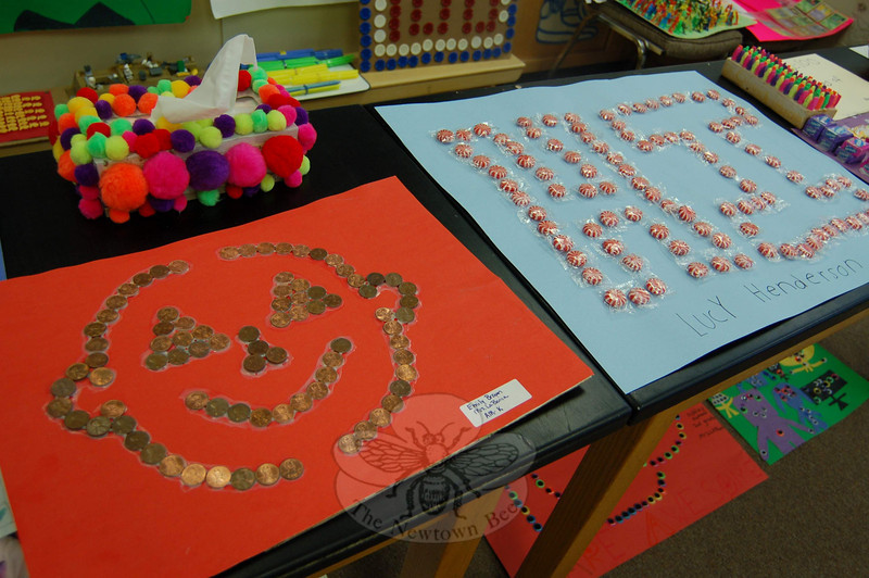 More 100th Day projects.  (Hallabeck photo)