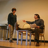 "Twenty-Four Years was the second play in Play With Your Food's offering at Edmond Town Hall on February 18. Mr Hannon said he fully understood how confused the husband in this play felt. ""I know 'I'm sorry' is what I'm supposed to say [to my wife] sometimes, but I don't know what I'm earth I'm sorry for,"" he said following the performance.  (Hicks photo)"