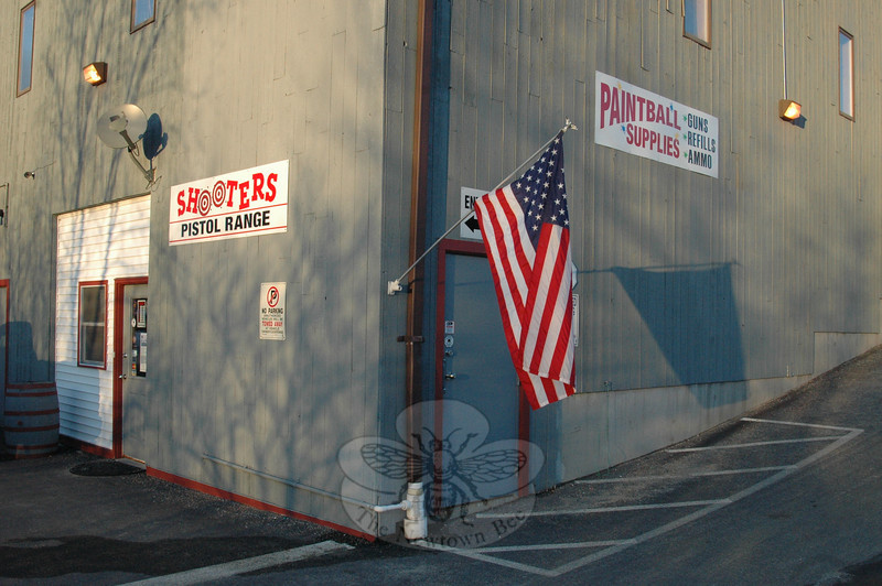Shooters Indoor Pistol Range is located about a mile south of the Route 7 and 67 intersection at 146 Danbury Road, New Milford, just behind the Monro Muffler shop.  (Voket photo)