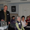 Joe Keller from Garden of Ideas in Ridgefield shares a laugh with two dozen members of The Garden Club of Newtown and guests, as well as his approach to growing vegetables nearly year around, on Tuesday, February 23, at C.H. Booth Library. Utilizing grow houses constructed from inexpensive plastic and plastic hoops, Garden of Ideas raises a variety of crops 11 months out of the year as a hedge against the poor economy. The farm produces enough to supply his family, an onsite farm stand, a booth at the Ridgefield Farmers Market, and to participate in the Community Sponsored Agriculture program.  (Crevier photo)