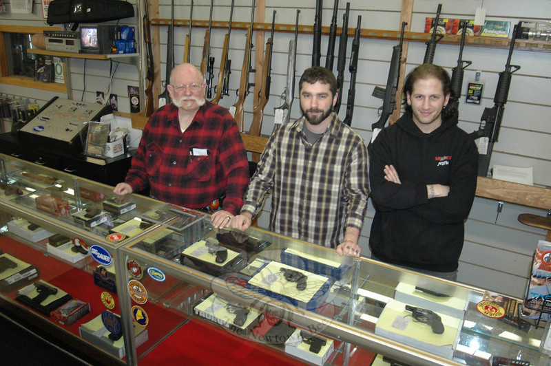 """Shooters Indoor Pistol Range is a true family business being run by, from left, Richard """"Dick""""' Giannettino, and his sons John and Andrew.  (Voket photo)"""