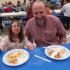 Visitors to the first Friday Knight Fish Fry of the season, on Friday, February 19, enjoyed dinner, including father and daughter Dave and Jessica Andreotta. The event was held in St Rose of Lima's Gathering Hall and was presented by the St Rose Knights of Columbus. Additional Friday Knight Fish Fry events are scheduled for February 26 and March 5. Dinner is $10 for adults, $5 for children, and there is a $30 maximum for a family. Takeout service is also available.  (Hallabeck photo)