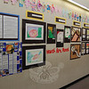 "Students across the school district were asked to ""Take a Closer Look"" for a collaborative art project that is now hanging in the schools after Sandy Hook School art teacher Leslie Gunn visited Santa Fe, N.M., last summer. This is part of the presentation on view at Head O'Meadow School.  (Hallabeck photo)"