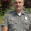 Oxford Resident State Trooper Daniel Semosky, a Newtown resident, recently received a meritorious service medal from the state police for preventing a large explosion and probable injuries from occurring last spring during a police standoff involving an Oxford man.  (Gorosko photo)