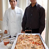 Chef Wilson Sanchez and Oscar Cambizaca of Tuscany in Bethel are ready to serve Chicken ala Milano, chicken breast in a plum tomato, wine, and mushroom sauce, garnished with fresh basil and Parmesan cheese. A 2007 Francis Coppola Zinfandel was paired with this entry.  (Crevier photo)