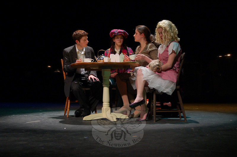 """It's Hell Week for the NHS Drama Department, with cast and crew working late hours every night this week leading to opening night for """"Gypsy."""" Performances are scheduled for March 11-14 at Newtown High School.  (Hallabeck photo)"""