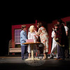 "It's Hell Week for the NHS Drama Department, with cast and crew working late hours every night this week leading to opening night for ""Gypsy."" Performances are scheduled for March 11-14 at Newtown High School.  (Hallabeck photo)"