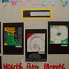 "Students across the school district were asked to ""Take a Closer Look"" for a collaborative art project that is now hanging in the schools after Sandy Hook School art teacher Leslie Gunn visited Santa Fe, N.M., last summer. This is part of the selection of work by second graders on view at Head O'Meadow School.  (Hallabeck photo)"