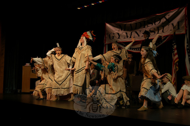 Newtown Middle School students presented The Music Man, March 5-7. (Hallabeck photo)