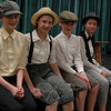 Newtown Middle School students presented The Music Man, March 5-7. These students were waiting to take the stage during one of the final dress rehearsals. (Hallabeck photo)