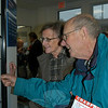 A delighted Edie and Bob Tschorn of Hawleyville opened their postal box Monday morning, relieved to have their neighborhood post office back in operation. The Tschorns have been Hawleyville Post Office box holders for more than 40 years.  (Crevier photo)