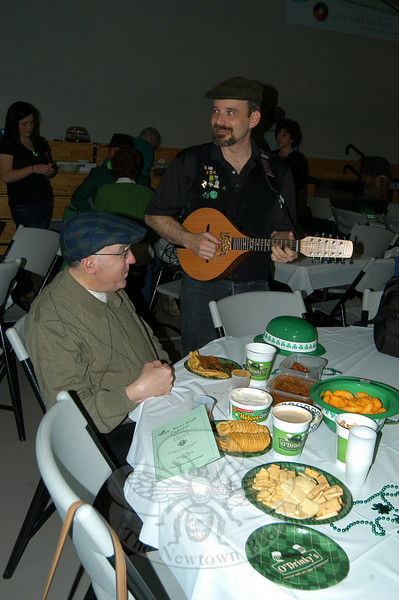 Attendees were treated to live music, coffee and Irish soda bread during the St Rose Irish Cabaret on Saturday, March 13, hosted by the Knights of Columbus. Beyond the aforementioned, attendees brought in anything else they may have wanted to eat and drink for the evening.  (Hallabeck photo)