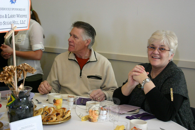 Bob and Roseanne DuBois were among those who supported the Newtown Ecumenical Workcamp Students at the group's fundraising breakfast on March 27.  (Hicks photo)
