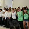 """Toward the end of their entertainment segment, all of the workcampers gathered together and sang the Beatles' """"With A Little Help from My Friends.""""  (Hicks photo)"""