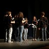 The Newtown High School Singers opened the Voices for Haiti Benefit Concert on April 1.  (Hallabeck photo)