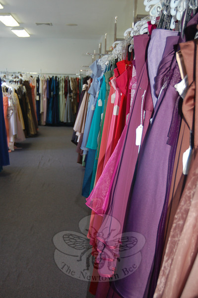 The 40th anniversary of Julie Allen Bridals was April 1, and the extensive line of gowns for bridesmaids and mothers is just one area of growth the shop has seen in four decades.  (Crevier photo)