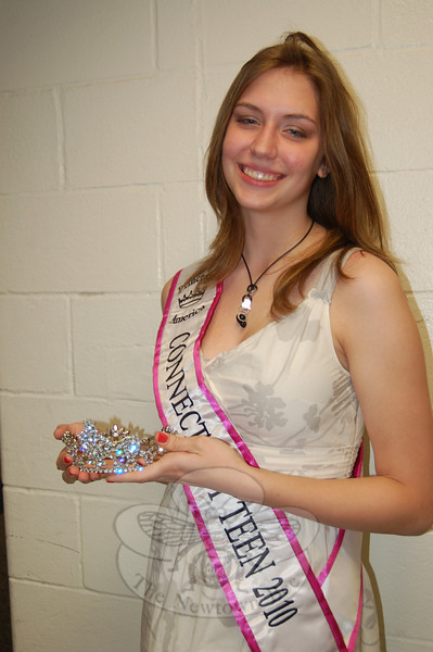 Newtown High School junior Paige Olson was recently named Miss Connecticut Teen 2010 in the Princess America Pageants. This is Paige's first state title in her three years of pageant competitions, and she will be moving on to the national competition in Orlando, Fla., in June.  (Hallabeck photo)