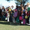 Children and their parents wait for the town's annual Spring Egg Hunt to start at Dickinson Park. Several hundred people attended the event.  (Gorosko photo)