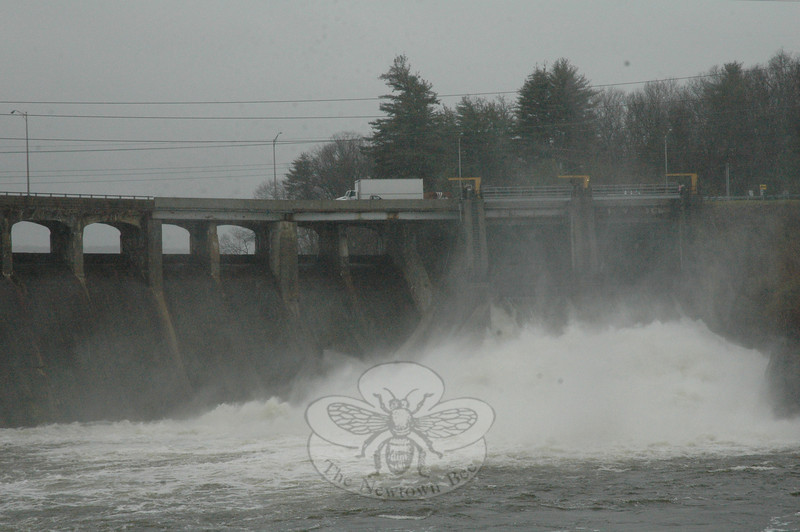 The floodgates of Stevenson Dam had been opened this week.  (Gorosko photo)
